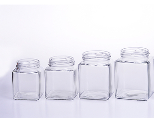 Square Glass Honey Jar