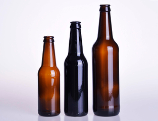 Amber Glass Beer Bottle
