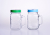 500ml Colorful Glass Mason Jar with Handle
