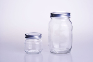 Square Style Glass Mason Jar with Metal Closure