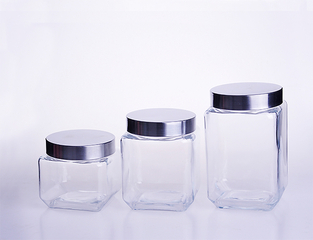 Large Square Glass Storage Jar