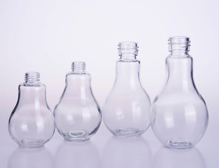 Round Drop Shape Juice Glass Bottle