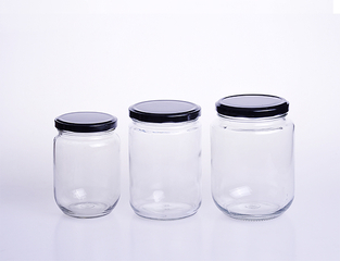 Round Pickles Container Glass Jar