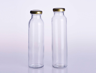 Ice Tea Packing Glass Juice Bottle with Tinplate Lid