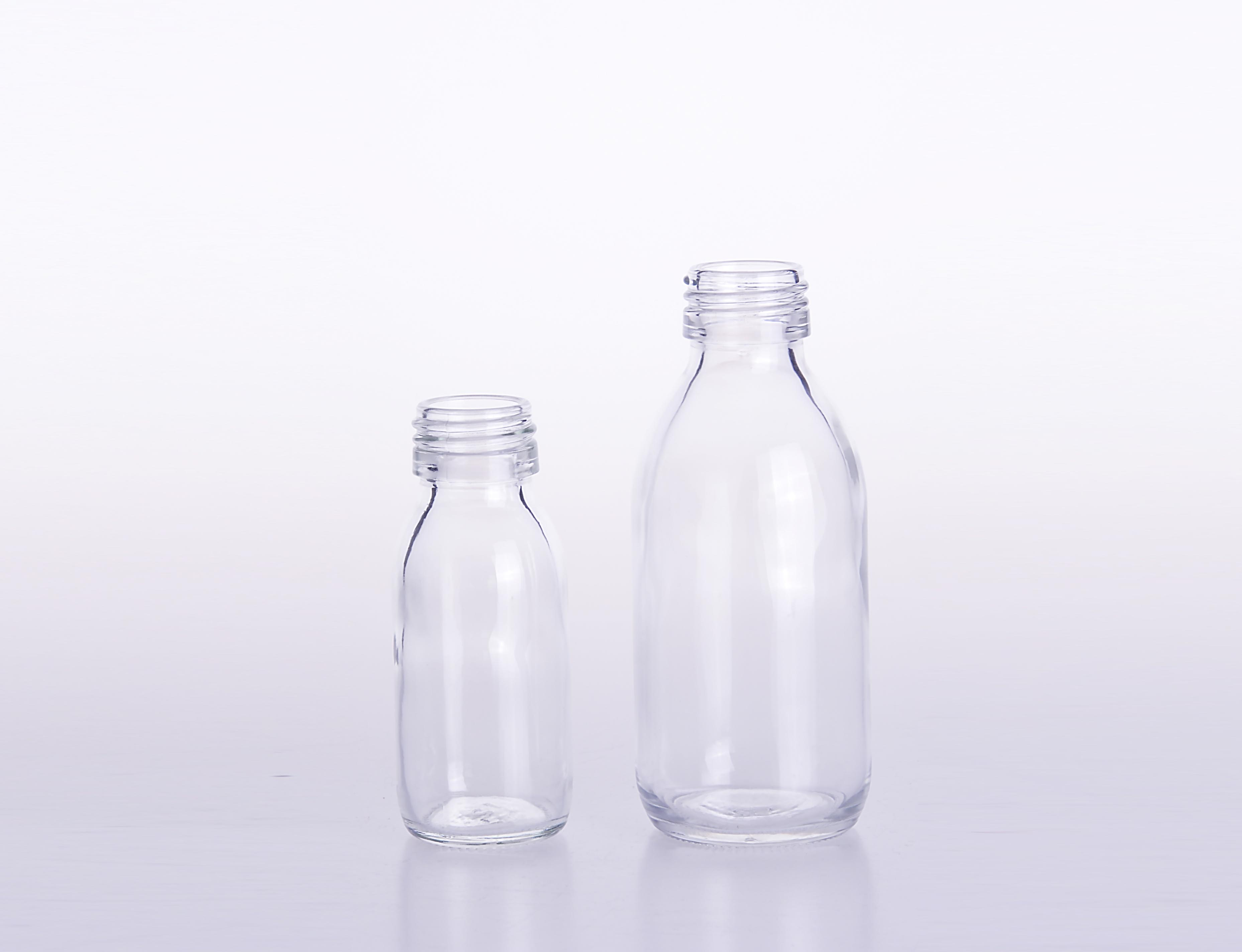 Transparent Glass Medicine Bottle with Screw Neck for Pharmaceutical Use