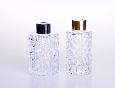 Clear Glass Perfume Reed Diffuser Bottle with Rattan