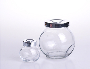 Ball Shaped Glass Storage Container Jar