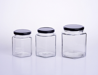 Hexagonal Glass Honey Jar